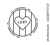 love  heart  lgbt icon. simple...