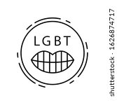 lips  lgbt icon. simple line ... | Shutterstock .eps vector #1626874717