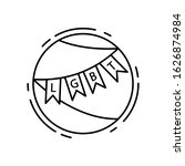 garlands  lgbt icon. simple...