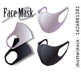 face mask mouth cover elastic... | Shutterstock .eps vector #1626881281