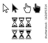 cursor icons. mouse pointer set....   Shutterstock .eps vector #162691514