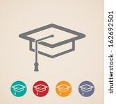 vector graduation cap icons   Shutterstock .eps vector #162692501
