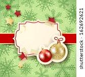 christmas illustration with... | Shutterstock .eps vector #162692621
