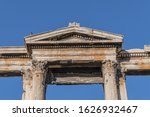 Famous Hadrian's Gate Or Arch...