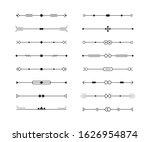 dividers vector set of...   Shutterstock .eps vector #1626954874