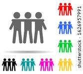 friendship of three multi color ...