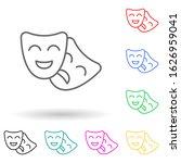 drama masks multi color style...