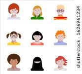 female avatars. business woman...   Shutterstock .eps vector #1626961234