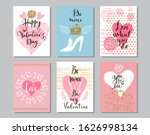 happy valentine's day set cards.... | Shutterstock .eps vector #1626998134