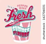 peppermint milkshake cup  ... | Shutterstock .eps vector #162706031