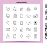 outline 25 miscellaneous icon... | Shutterstock .eps vector #1627088101