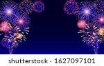 colorful vector firework on... | Shutterstock .eps vector #1627097101