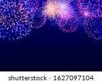 colorful vector firework on... | Shutterstock .eps vector #1627097104