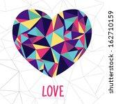 love card brilliant heart | Shutterstock .eps vector #162710159
