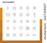 set of basic ui elements line...