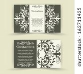 set of floral invitation cards.  | Shutterstock .eps vector #162711425