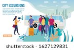 city bus excursions  travel... | Shutterstock .eps vector #1627129831