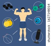 muscular man with basic... | Shutterstock .eps vector #1627148014