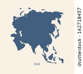 asia map vector | Shutterstock .eps vector #162718457