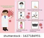 infographic of corona virus... | Shutterstock .eps vector #1627186951
