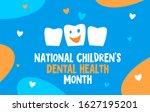 national children s dental... | Shutterstock .eps vector #1627195201