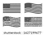 usa american grunge flag set ... | Shutterstock .eps vector #1627199677