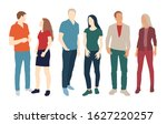 silhouettes of men and women ...   Shutterstock .eps vector #1627220257