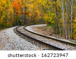 Railroad Track Curve Around Th...