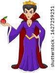 evil queen holding a poisoned...   Shutterstock .eps vector #1627259251