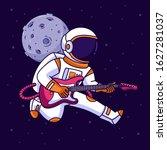astronaut playing guitar in...   Shutterstock .eps vector #1627281037
