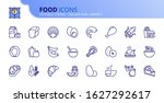 outline icons about food. fruit ... | Shutterstock .eps vector #1627292617