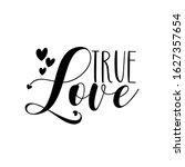 True Love   Calligraphy Text...