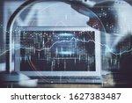 double exposure of forex chart... | Shutterstock . vector #1627383487