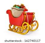3d Santa Claus Sleigh With Gift ...