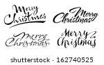 merry christmas   illustration | Shutterstock .eps vector #162740525