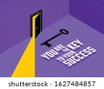 the key to success vector... | Shutterstock .eps vector #1627484857