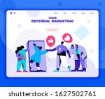 referal marketing landing page...