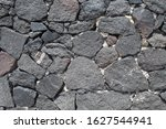 Texture Of A Stone Wall. Old...