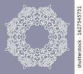 lacy doily frame. filligree...   Shutterstock .eps vector #1627545751