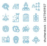 set of human resources icons... | Shutterstock .eps vector #1627545937