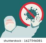 stop coronavirus. coronavirus... | Shutterstock .eps vector #1627546081