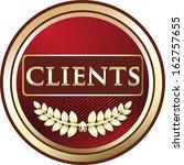 clients red vintage label   Shutterstock .eps vector #162757655