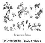 set of vintage decorative... | Shutterstock .eps vector #1627578091