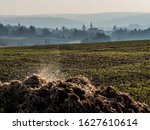 steaming heaps of cow dung in... | Shutterstock . vector #1627610614