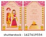 illustration of couple on... | Shutterstock .eps vector #1627619554