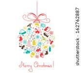 christmas ball made of a... | Shutterstock .eps vector #162762887