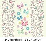 beautiful baby vintage greeting ... | Shutterstock .eps vector #162763409