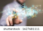 pressing document icon over...   Shutterstock . vector #1627681111