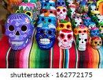 Постер, плакат: Traditional Mexican souvenir skulls