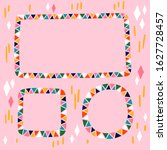 hand drawn colorful frames set... | Shutterstock .eps vector #1627728457